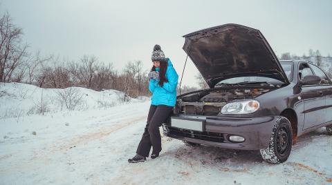 Замерзла машина